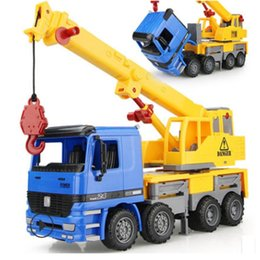 red toy trucks Australia - 1:22 Large size Boys engineering car crane hook machine child baby toy car truck model diecast toys vehicles children