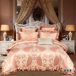 $enCountryForm.capitalKeyWord Australia - white color jacquard luxury Bedding set Cotton thick bedspread 4 6Pcs King Queen size bedsheet duvet cover pillowcase