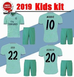 1b30ebd0b 2019 2020 New Real Madrid Kids Kit Soccer Jerseys 19 20 Home White Away 3RD  4TH Boy Child Youth Modric ISCO BALE KROOS Football Shirts