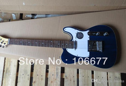 Free Shipping !! Quality F r Dark Blue Standard Rosewood Finger Board Electric Guitar White Pick Guard In Stock