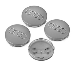audi volkswagen cars NZ - 4PCS 2.36 inch 60mm Car Rim Wheel Center Hub Caps Emblems For Audi Gray