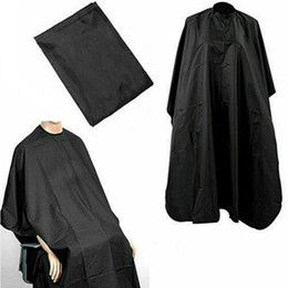 Wholesale Salon Barber Cape Gown Hair Cutting Hairdressing Hairdresser Cloth Solid Black Increase Distribution Of Adult Management