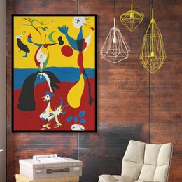 large abstract art canvas prints NZ - Joan Miro Abstract Wall Art Painting-7 Famous Canvas Painting Living Room Home Decoration Large Pictures 191002