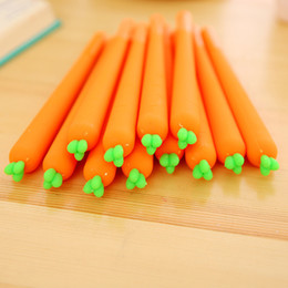 school stationery for kids Australia - 1PC Cute Carrot Pens Novelty Neutral Pens Kawaii 0.5mm Gel For Kids Gift School Office Supplies Stationery