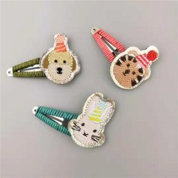 $enCountryForm.capitalKeyWord Australia - 1 Pcs Cute children Hairpins Handmade embroidery Cartoon animal hair BB clips Accessories kids girls princess Barrettes headwear