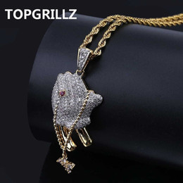 $enCountryForm.capitalKeyWord Australia - Topgrillz Hip Hop Brass Gold Color Iced Out Micro Pave Cz Praying Hands Cross Pendant Necklace Charm For Men Women Gifts Jewelry Y19061703