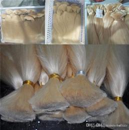 $enCountryForm.capitalKeyWord Australia - Top Grade Human Hair Extensions In Bulk No Wefts Cheap Price 613 Bleach Blonde Color Bulk For Braids 300Gr Lot, Free Shipping