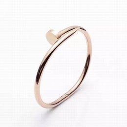 $enCountryForm.capitalKeyWord Australia - 2019 cheap new hot sale silver gold rose gold thin round bangle with diamond size 16-21 bracelet with box and dast bag