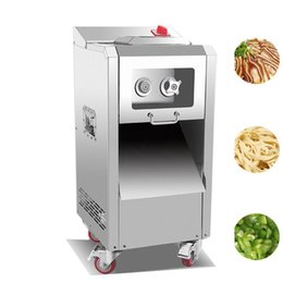 Discount used meat cutter machine Small Electric Manual Dual-use Meat Cutter Machine Pull-out Blade Shred Slicer Dicing Machine Commercial Meat Slicer mac