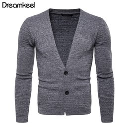 Color Clothing Australia - Men's Sweater Unlined Upper Garment Clothes Youth Man Solid Color Cardigan Man Self-cultivation Knitting Pullover Loose Coat Y