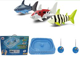 Kids Birthday Pack Australia - High quality Remote control sharks toy gift box pack with pool Educational Innovative water toys Baby kids best birthday gift