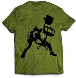 $enCountryForm.capitalKeyWord UK - Banksy T Shirt Office Chair Clash Joe Strummer T-Shirt Small to XXLFunny free shipping Unisex Casual
