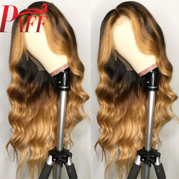 ombre full lace wigs Australia - PAFF Highlight Blonde Full Lace Human Hair Wigs With Baby Hair Ombre Body Wave Brazilian Remy Hair Wig Pre Plucked Middle Part