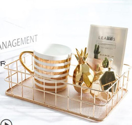simple bedroom decorations Australia - Ins wind Nordic simple wrought iron storage basket desktop debris storage basket living room room bedroom decoration jewelry small