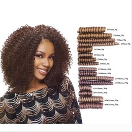 curl hair braiding UK - New Style Curlkalon braids 10 20 inch Ombre Jumpy Jamaican Roots Curl crochet Rebound Synthetic Hair Extension for Fashion Women