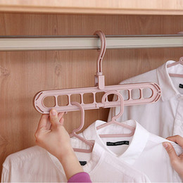 Wholesale Hot Multi Function Space Saver Wonder Magic Clothes Hanger Closet Racks Organizer Wardrobe Coat Dress Hooks