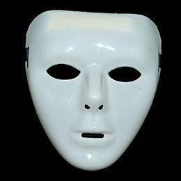 Full White Face Mask Woman Australia - Men Women Plastic Halloween Masquerade Mask Fancy Dress Venetian Masks Masquerade Masks Hip-hop Full Face Mask