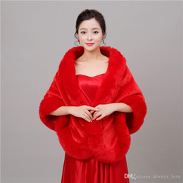 $enCountryForm.capitalKeyWord NZ - 2019 Winter Faux Fur Bridal Wedding Wrap Cape Shawl Jackets Coat Bolero Tippet Stole for Wedding Party PJ026