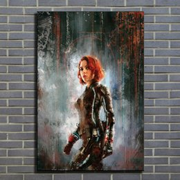 Art Canvas Prints Australia - Claudia Gironi - Black Widow Canvas Painting Print Pictures for Living Room Home Decor Abstract Wall Art Oil Painting Poster