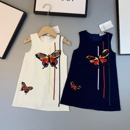 Import gIrls dresses online shopping - Kids dressing gowns dress vest sleeveless collar design chest butterfly design with imported roman fabric inner cotton