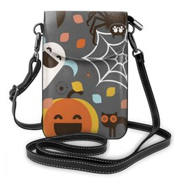$enCountryForm.capitalKeyWord Australia - wholesale Halloween Leather Cell Phone Bag Shoulder Pocket Wallet Pouch Case Neck Strap For Samsung For iPhone 7 For Huawei