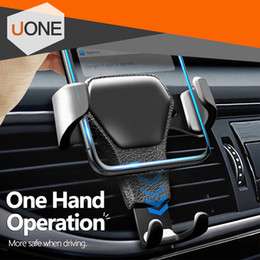 Wholesale Universal Car mount Phone Holder Air Vent Stand For Car No Magnetic Phone Grip Mobile Phone Stand Holder with retail package