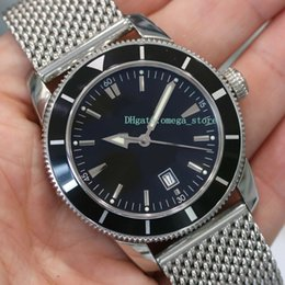 Luxury Watches Heritage Australia - Upgraded version Top Quality Luxury mens watch Superocean Heritage Black Stainless Steel A1732024 Eta 3120. Automatic Movement men watch
