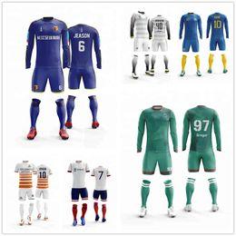 05043ebaa Professional Custom Adult Soccer Jerseys Set Uniforms Football Clothes Kit  Cheap Breathable Football Shirt Tracksuit