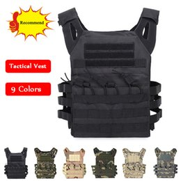 Discount tactical combat vest black - Tactical Combat Vest JPC Outdoor Hunting Wargame Paintball Protective Plate Carrier Body Armor Vest