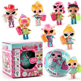 $enCountryForm.capitalKeyWord Australia - 1PC 10CM&7.5CM Beach Balls Mini Dolls Series 4 LiL Sisters Action Figures Dolls Dress Up Baby Spray Water Dolls Toys for Kids Color changes