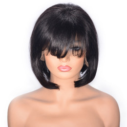 tying machine UK - Cambodian Human Hair Wigs Glueless Straight Lace Front Wig for Women Natural Color Virgin Hair Wig