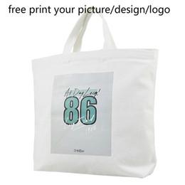 Custom Photo Canvas Prints Australia - customized women handbag custom personalized DIY canvas picture photo print logo Messenger female shoulder bag eco shopping bag