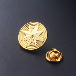 superheroes pin 2019 - New Style Superhero Captain Marvel Shield Pin Brooches Carol Danvers Badge Pins Brooch for Women Men Fans Jewelry cheap