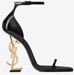 6.5 high heels online shopping - With Box Brand new Sexy shoes Woman Summer Buckle Strap Rivet Sandals High heeled shoes Pointed toe Fashion Luxury Single High heel10 cm
