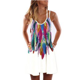 Bohemian Clothes Plus Size UK - Women Fashion Boho Style Sexy Printed Plus Size Women Clothing Casual Summer Beach Femme Robe Vestidos Dress Ws804y designer clothes