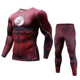 $enCountryForm.capitalKeyWord Australia - Mens Sport Running Sets Compression T-Shirt + Pants Skin-Tight Long Sleeves Fitness Rashguard Training Clothes Gym Yoga Suits