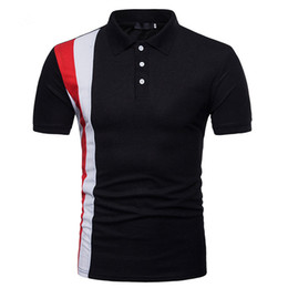 Polo sPort clothes online shopping - Mens Summer Designer Printed Polo Cotton Short Sleeve Sports Tees Fashion High Street Quickly Dry Clothing