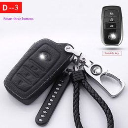Special Car Rings protect For Toyota Land Cruiser200 Prado150 120 Rav4 Corolla Avalon Highlander Camry Crown Leather Key Case from telescope high manufacturers