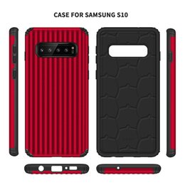 Heavy Duty Note Phone Case UK - Luggage Design Slim Hybrid Armor Cell Phone Cases For Samsung Galaxy S10 Plus S10e J4 J6 Iphone XS Max XR Heavy Duty Case
