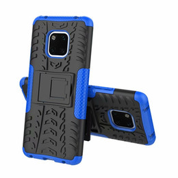 tyre case UK - Slim 2in1 Hybrid Tire Tyre Pattern Kickstand Case For Huawei Mate 20 Pro Mate20 Mate 20 Lite Honor 8X Max 8X Nova 3i