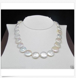 $enCountryForm.capitalKeyWord NZ - Hot Huge AAA 15-16mm south sea white coin pearl necklace 18inch 14K GOLD CLASP