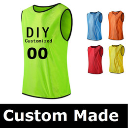 ff3b9a7d4 Personalized Custom LOGO Name Number Soccer Game Training Team Vest Adult  Men Football Sports Mesh Jersey Free Shipping