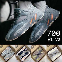 best website a148b 4397d Adidas Yeezy Boost 700 V2 700 malva Wave Runner B75571 2018 Mejor Calidad  Kanye West Calabasas Zapatos Corrientes Hombres Deportes Mujer Zapatos  Zapatillas ...
