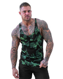 vest model men UK - Explosion Models Muscle Fitness Camouflage Vest Male Breathable Quick-Drying Spandex Men's Casual Outdoor Movement I Vest
