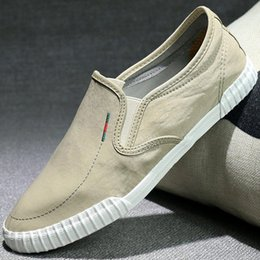 spring court canvas NZ - Men's canvas shoes casual low - top spring and summer versatile men's canvas shoes