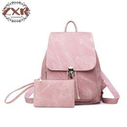 teenage girl shoulder bags 2019 - Fashion Vintage Women Backpack Pu Leather Material Backpacks For Teenage Girls Casual Large Capacity Double Shoulder Bag