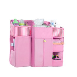 bedside toys Canada - Multifunction Baby Bedside Storage Bag Baby Pockets Cot Bed Hanging Bag Crib Organizer Toy Diaper Pocket For Crib Bedding Bed