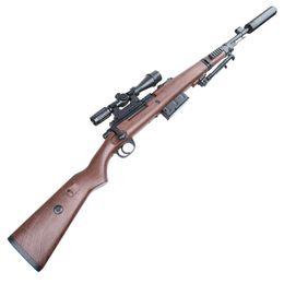 Bola de gel de água kar98k sniper rifle de plástico verde e preto armas de brinquedo de Cristal Balas PUBG venda por atacado