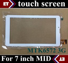 tablet pc for phone call UK - 10PCS 7 inch original Touch Screen with Glass Digitizer for 7 inch 3G Phone Call Tablet PC MTK6572 Dual Core TC11