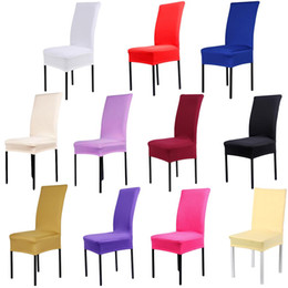 $enCountryForm.capitalKeyWord Australia - Solid Spandex Chair Covers Slipcover Covers Modern Elastic Stretch For Party Room Universal Kitchen Chair Cover